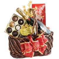Energetic Party Time Hamper of Sparkling Wine, Chocolates and More