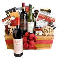 Classy Hamper with Goodies and Wine